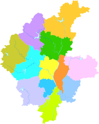 Linyi - Image: Administrative Division Linyi
