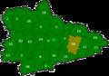 Administrative map showing Lebyazh'yevskiy raion in Kurgan oblast.png