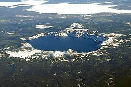 Crater Lake fills the caldera of Mount Mazama