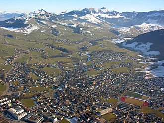 Appenzell District - Aerial view of Appenzell