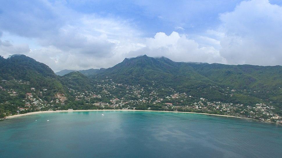 Aerial of Beau Vallon Mahe, Seychelles (38911468714)