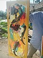 African Painting of a Dancing Women by the Road Side at Kinshasa, DRC.jpg