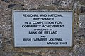 Aghaboe Priory of St. Canice Nave Plaque Community Achievement 2010 09 02.jpg