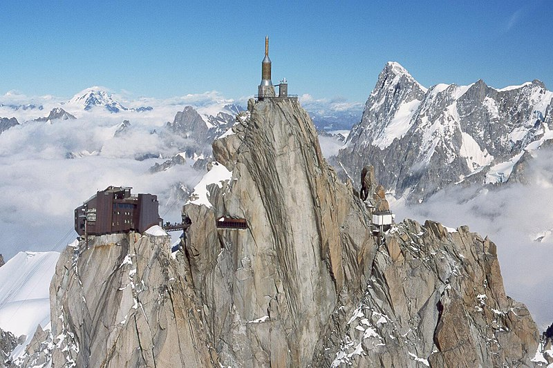 Photo from Wikimedia Commons of Aiguille du Midi