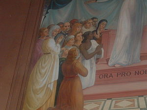 Antonio Barluzzi - Barluzzi appears in a fresco in his Church of the Visitation at Ein Karem