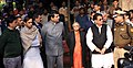 Ajit Singh, the Chief Minister of Delhi, Smt. Sheila Dikshit, the Minister of State for Home, Shri R.P.N. Singh and other dignitaries during the cremation of Constable Subhash Chand Tomar, at Nigambodh Ghat, in Delhi.jpg