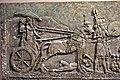 Alabaster bas-relief from Khorsabad, Iraq. Sargon II in his war chariot. Iraq Museum, Baghdad, Iraq.jpg