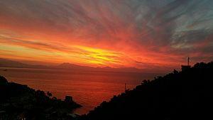 Erchie (Maiori) - Sunrise over the sea at Erchie