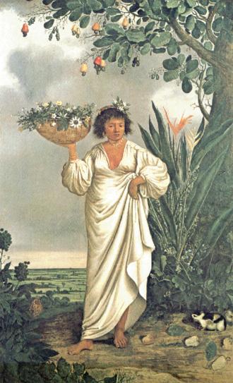Mameluco - Albert Eckhout: a Mameluca woman (circa 1641–1644).