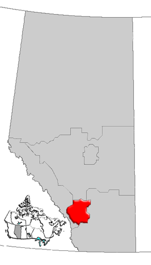 Calgary Region - Image: Alberta Calgary Region map