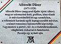 Albrecht Dürer plaque Budapest14.jpg