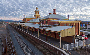 Albury railway station - Station front in July 2015