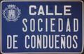 Alcalá de Henares (RPS 07-05-2017) Calle Sociedad de Condueños, placa indicativa.png