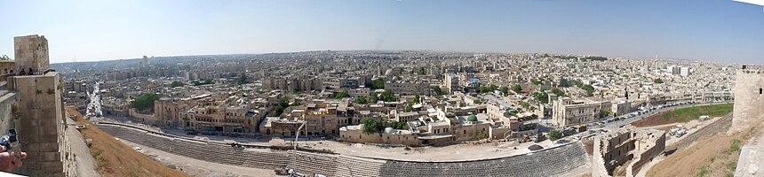 Panoramabild Aleppo, Syrien