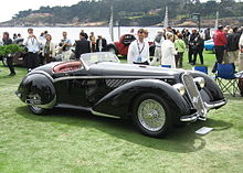 Alfa Romeo 8C 2900B Touring Spider 1937 in 2005 Pebble Beach Concours d'Elegance.