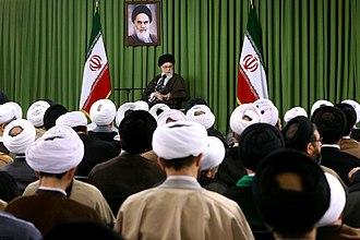 Qom Seminary - Iran's supreme leader Ali Khamenei at the Qom Seminary, 15 March 2016