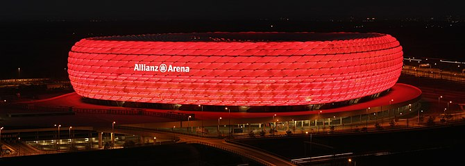 The Allianz Arena is a football stadium in the...
