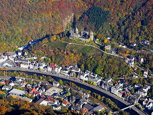 County of Mark - View of Altena Castle and Lenne in Altena
