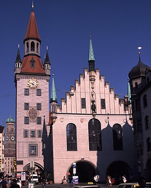 Jörg von Halsbach - Old Town Hall in Munich (with the Southern Tower of the Frauenkirche in the background)