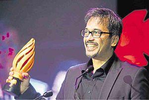 "Alvin Anson - Alvin Anson receiving his Best Actor Sinag Maynila Award for ""Expressway"""