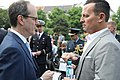 Ambassador Grenell chats with British Ambassador to Germany Sir Sebastian Wood (40248265440).jpg