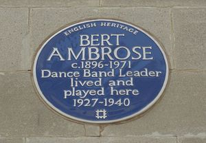 Ambrose (bandleader) - Tribute to Bert Ambrose at the May Fair hotel in London