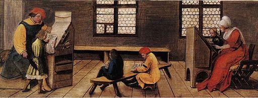 Ambrosius Holbein, schoolroom, 1516