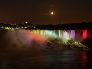 American and Bridal Falls of Niagara Falls on ...