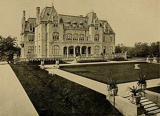 Ogden Goelet - Goelet's Newport residence, Ochre Court in 1904.