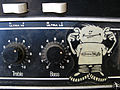Ampeg amp, Treble, Bass, Burning Heads, Gravity Slaves recording (16), Studio Contrepoint, May 2010.jpg