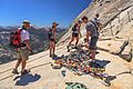 An 18 hour climb of Half Dome - by a trail around the backside.very hot, not enough water (3 H2O bottles), left in the dark, got back to the car at 10 pm, in the dark - a long day - (26km-1600m climb) (28727064856).jpg