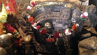 Binsar Devta - An unknown deity's idol - considered as the main deity at Bindeshwar temple