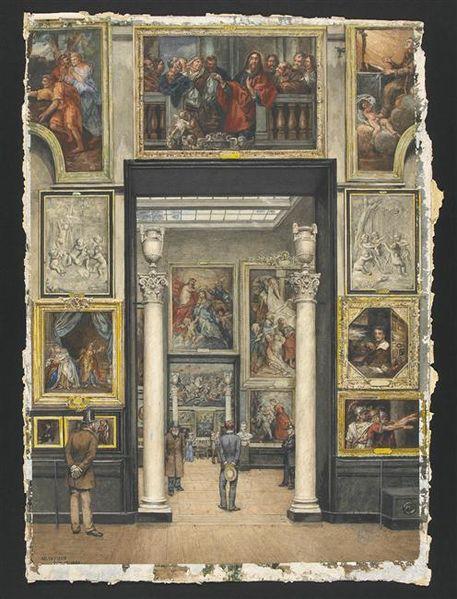 File:Ancien accrochage des peintures.jpg