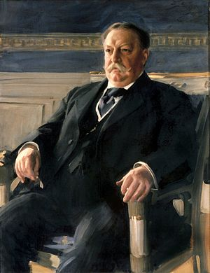 Itata incident - Official White House portrait of William Howard Taft in the Blue Room, 1911, oil on canvas by Anders Leonard Zorn (1860–1920), White House Collection.