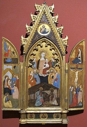 Andrea di Bonaiuto da Firenze - Nativity with donors