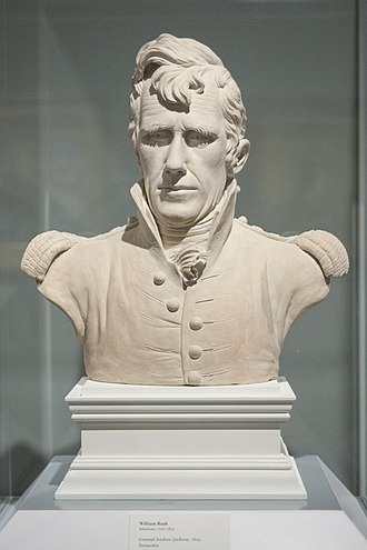 Andrew Jackson - Teracotta bust of General Jackson by William Rush, 1819