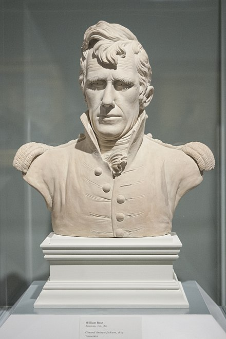 Teracotta bust of General Jackson by William Rush, 1819 Andrew Jackson bust.jpg