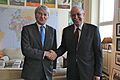 Andrew Mitchell welcomes Libyan Prime Minister to DFID (7268001304).jpg