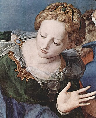 Deposition of Christ (Bronzino) - Detail of Eleonora of Toledo as Mary of Clopas from the Deposition of Christ.