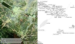 Angkor Satellit mit Karte