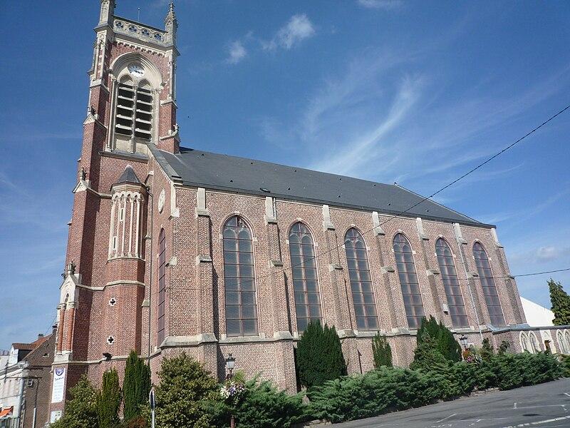 Église Saint-Martin d'Aniche, Nord, Nord-Pas-de-Calais, France.