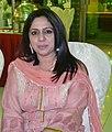Anila Naz Soomro poet and professor in her office at Sindh University Jamshoro Sindh, Pakistan.jpg