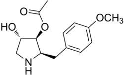 Anisomycin structure.png
