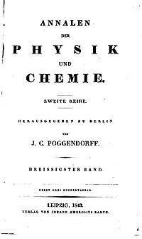 1824-1899 hed tidsskriftet Annalen der Physik und Chemie.