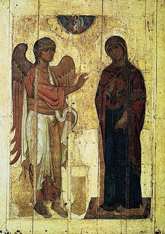«Устюжское Благовещение», начало XII века. Государственная Третьяковская галерея