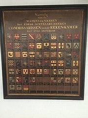 Vervolg van de wapens en naamen der Edele Achtbaare Heeren Commissarissen van de Reken-kamer der Stad Amsterdam