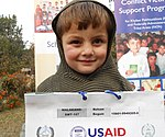 Another victim poses at the USAID's Conflict Victims Support Program in Peshawar after receiving scholarship. (14728826034).jpg