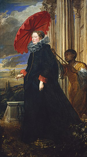 House of Grimaldi - Elena Grimaldi, as painted by Anthony van Dyck, c. 1623