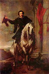 Equestrian portrait of Anton Giulio Brignole-Sale