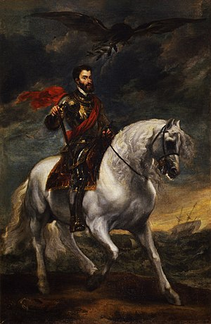 Equestrian Portrait of Charles V - A later Baroque treatment of the subject: Anthony van Dyck's Portrait of Charles V on Horseback (1620)